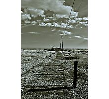 Dungeness 'Sheds' Photographic Print