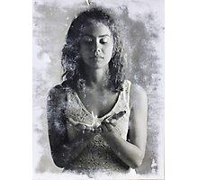 Crane in Hands Photographic Print