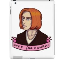 Sure, Fine, Whatever. iPad Case/Skin