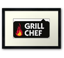 I am the Grill Chef! Framed Print