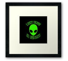 ♥♥♥ I DON'T BELIEVE IN HUMANS ♥♥♥ Framed Print