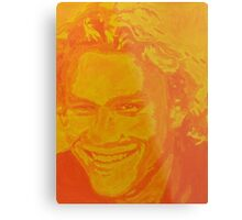 Heath Ledger- Yellow Popart Metal Print