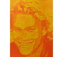 Heath Ledger- Yellow Popart Photographic Print