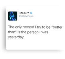 HALSEY - A better person Canvas Print