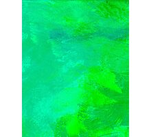 Resonance Aqua Green Photographic Print