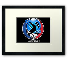 Steal Your Face, But Don't Panic Framed Print