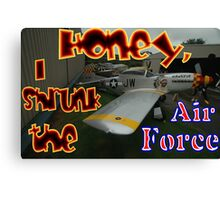 Honey, I Shrunk The Air Force, Tyabb 2012 Canvas Print