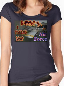 Honey, I Shrunk The Air Force, Tyabb 2012 Women's Fitted Scoop T-Shirt