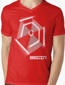 Hyper Hexagonest Begin Mens V-Neck T-Shirt