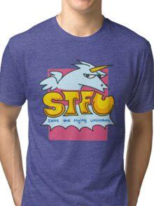 Save the flying unicorns Tri-blend T-Shirt