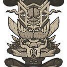 Buffalo Warrior Totem by cintrao