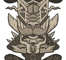 Buffalo Warrior Totem by cintrao