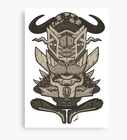Buffalo Warrior Totem Canvas Print