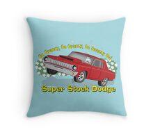 Super Stock Dodge Throw Pillow