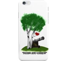 """Birches love cannons"" iPhone Case/Skin"