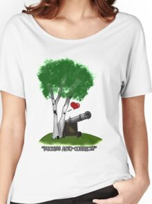 """""""Birches love cannons"""" Women's Relaxed Fit T-Shirt"""