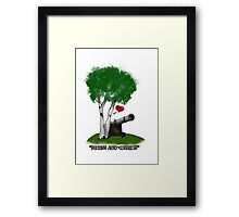 """""""Birches love cannons"""" Framed Print"""