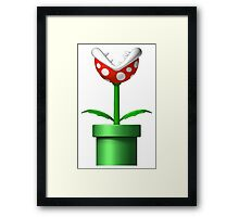 Mario Piranha Plant Framed Print