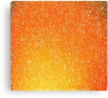 Itchy Scratchy hot orange.  Canvas Print