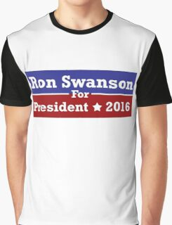 Ron Swanson For President Graphic T-Shirt