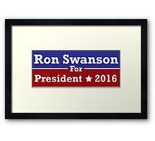Ron Swanson For President Framed Print