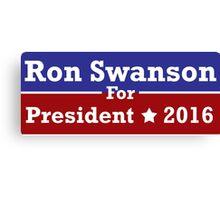 Ron Swanson For President Canvas Print