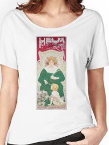 Vintage Art Nouveau Advertisement for Helm Cacao Women's Relaxed Fit T-Shirt