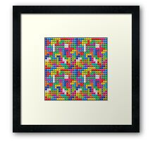 Seamless Color Block Pattern Framed Print