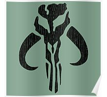 Mandalorian (black, distressed) Poster