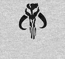 Mandalorian (black, distressed) Unisex T-Shirt