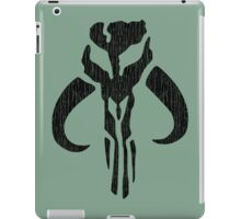 Mandalorian (black, distressed) iPad Case/Skin