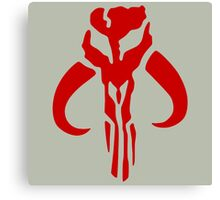 Mandalorian (red) Canvas Print