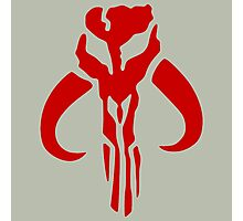 Mandalorian (red) Photographic Print