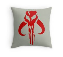Mandalorian (red) Throw Pillow