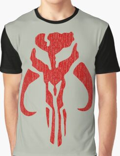 Mandalorian (red, distressed) Graphic T-Shirt