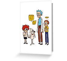 Rick Dialogue Greeting Card