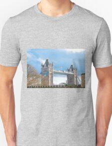 Tower Bridge London in Winter Unisex T-Shirt