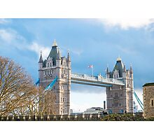 Tower Bridge London in Winter Photographic Print