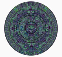 Psychedelic Mayan Calendar One Piece - Short Sleeve