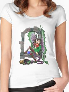 Knitting Fairy Women's Fitted Scoop T-Shirt
