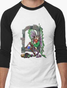 Knitting Fairy Men's Baseball ¾ T-Shirt
