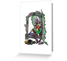 Knitting Fairy Greeting Card