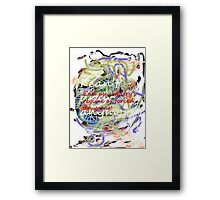 I can't draw anymore: end psychiatry's regime of forced drugging! Framed Print