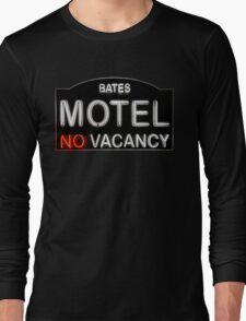 Bates Motel Sign Long Sleeve T-Shirt