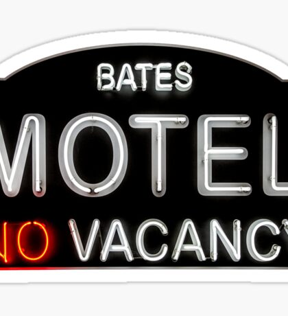 Bates Motel Sign Sticker