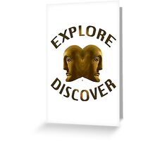 Explore And Discover Greeting Card