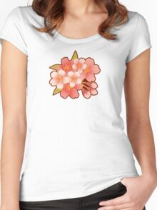 Beautiful cherry blossoms of Japan Women's Fitted Scoop T-Shirt