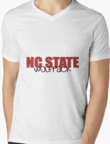 North Carolina State University Mens V-Neck T-Shirt