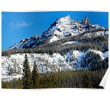 Snow Capped Pinnacles Poster