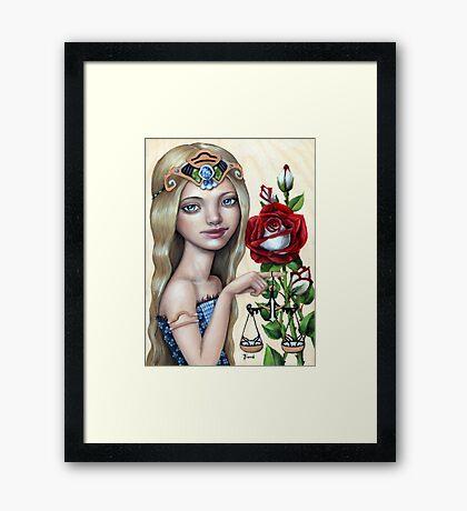 Libra Girl Framed Print